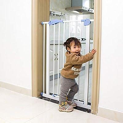 Puertas de bebé Puertas De Seguridad para Bebés Extra Altas De 120 Cm para Puerta De Escalera, Puerta De Cierre Automático De Metal A Través De Puerta para Mascotas para Perro Gato,