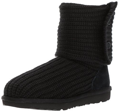 UGG Girls K Cardy II Pull-on Boot, Black, 6 M US Big Kid -