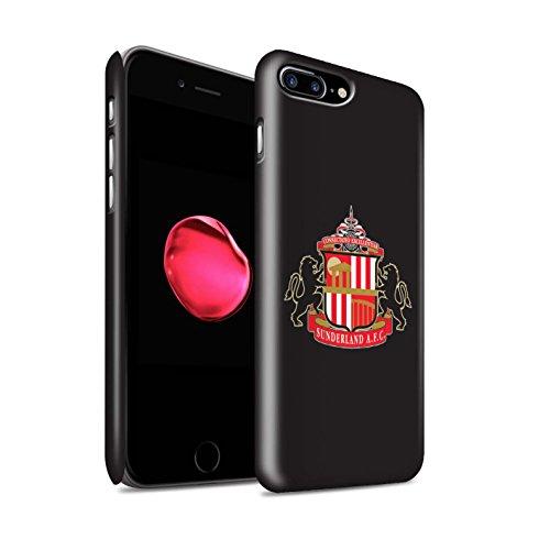 Officiel Sunderland AFC Coque / Clipser Matte Etui pour Apple iPhone 8 Plus / Noir Design / SAFC Crête Club Football Collection