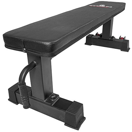 Titan Fitness Flat Weight Bench 1,000 lb Rated Capacity w/ Handle & Wheels by Titan Fitness