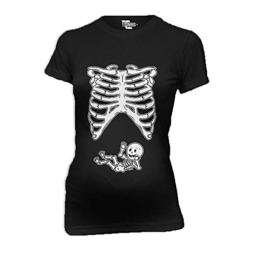Skeleton Baby Women's Maternity T-Shirt (Black, XX-Large)