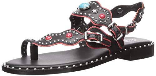 Ash Women's AS-Pacha Flat Sandal Black/red 40 M EU (10 US)