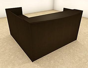 3pc L Shape Modern Office Reception Desk, #OT SUL R8