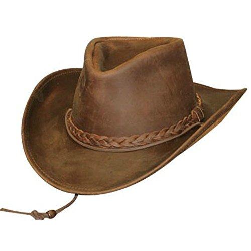 Henschel Hats Weekend Walker Oiled Pullup Western Cowboy hat (Large, Brown) - Henschel Weekend Walker