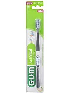 Gum Recambios Cabezal Cepillo ActiVital Sonic, Blanco, Pack 2Un.