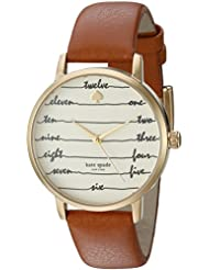 kate spade new york Womens Metro Brown Watch KSW1237