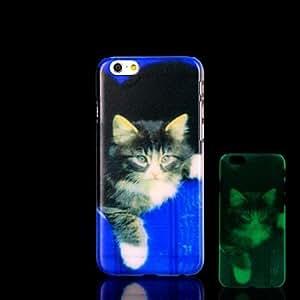 YULIN Cubierta Posterior - Gráfico/Innovador/Brillo en la Oscuridad - para iPhone 6 Plástico )