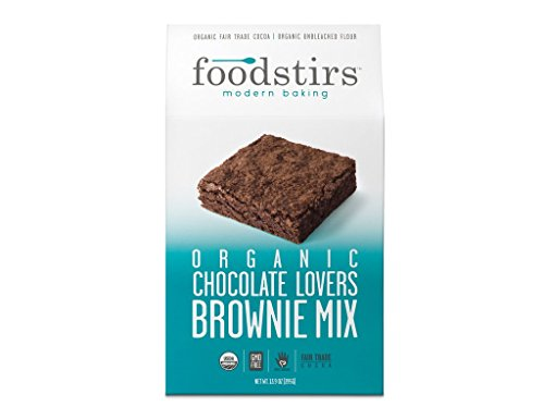 Foodstirs Organic, Non GMO Chocolate Lovers Brownie Mix, 13.9 Ounce