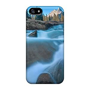 Anti-scratch Case Cover WonderwallOasis Protective California Yosemite Meadows Waterfalls Case For Iphone 5/5s