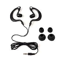 Y&M(TM)Waterproof Earphone,100% Waterproof Headphones Underwater In-Ear Earbud Stereo 3.5mm Earphone Headset for Phone Ipod Mp3 Mp4 Player (Black)