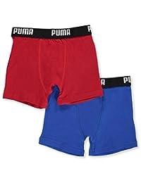 "Puma Big Boys' ""Flat Lock Seam"" 2-Pack Boxer Briefs"
