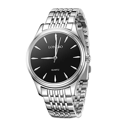 Mens Women Watches,Couple Silver Stainless Steel Quartz Waterproof Watch for Men/Ladies,Fashion Dress Business Casual Couple Wrist Watches (Woman-Silver)