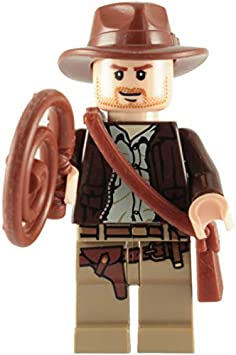 INDIANA JONES AND MOTORCYCLE MINIFIGURE FIGURE USA SELLER NEW IN PACKAGE