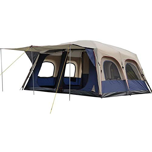 6-10-Person Tent for Camping | Tent with Easy Setup,Multi-Person Double Deck, Four Seasons Tent, Size (L W H cm): 460 360 215cm