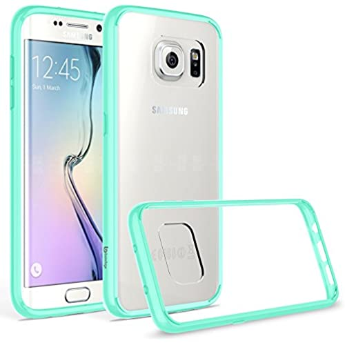 Bastex Slim Fit Clear Hard Rubber Fused TPU Bumper Case for Samsung Galaxy S7 Edge G935, Teal Sales