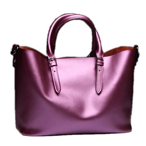 à véritable cuir Light sac Sac bandoulière main Purple à en en bandoulière à Sac de femmes vachette cuir véritable pour Sentsreny ngS7qTwZxH