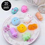 All Star Games 20Pcs Adorable Squishy Toys Mochi Squishies Mini Squeeze Stress Reliever Toys for Kids & Adults