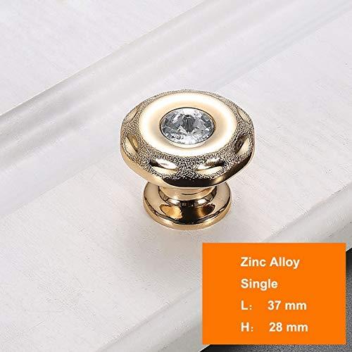 4045 golden 1PC Black Luxury Crystal Knob Super Shiny Kitchen Cabinet Door Hardware golden Dresser Handles Jewelry Box Drawer Pulls  (color  4048 golden)