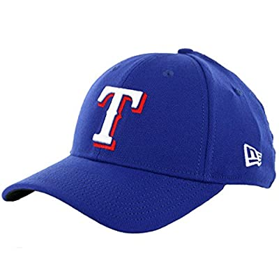 "New Era Team Classic 3930 Texas Rangers ""Game"" FlexFit Hat (Royal Blue) MLB Cap"