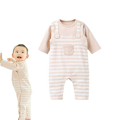 COBROO Baby Clothes Unisex Baby Girl Romper-Overall Autumn Winter Outwear Cotton Striped Cute Kitty Cat Baby Boy Romper 3-6 Months