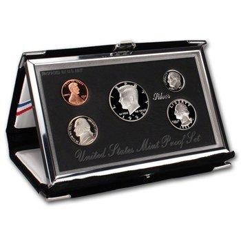 (1992 S US Mint 5-Piece PREMIER SILVER PROOF SET Orig Box/COA)