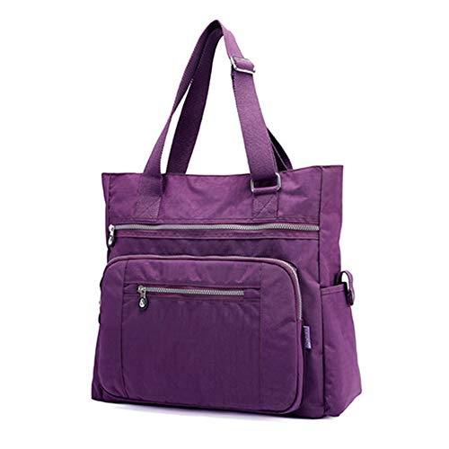 Multi Pocket Nylon Totes Handbag Large Shoulder Bag Travel Purse Bags For Women -