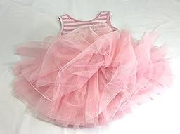 Girl Birthday Tutu Dress (1 Year, sleeveless Pink)