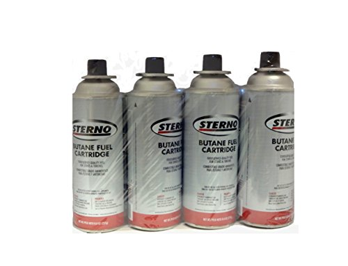 Sterno Butane Fuel Cartridge 8 Oz 4 Pack
