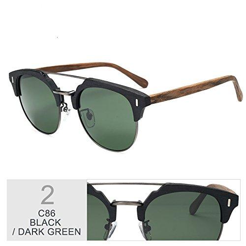 GREEN Polarizadas De Hombre Gafas Metal De Popular Y TIANLIANG04 Madera Gafas Gafas Sol Clásico Azul En Madera Gafas 6wTnHqBt