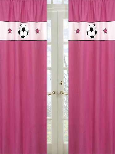 Sweet Jojo Designs 2-Piece Girls Soccer Window Treatment Panels by Sweet Jojo Designs