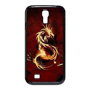 Samsung Galaxy S4 9500 Cell Phone Case Black Dragon X2K8C