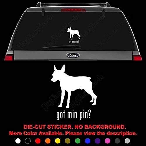 - Got Min Pin Pinscher Dog Pet Die Cut Vinyl Decal Sticker for Car Truck Motorcycle Vehicle Window Bumper Wall Decor Laptop Helmet Size- [20 inch] / [50 cm] Tall || Color- Gloss White