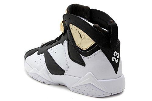 Jordan Mens 7 Retro C&C White-Metallic Gold-Black 725093-140 9.5