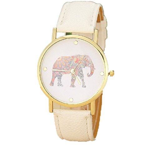 BEAUTYVAN Hot Women's Fashion Geneva Roman Numerals Faux Leather Analog Quartz Wrist Watchs (F)