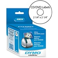 SANFORD CD/DVD Label(s) - 2.25 Length - 1 Roll - 160/Roll - Direct Thermal - White / 30854 /