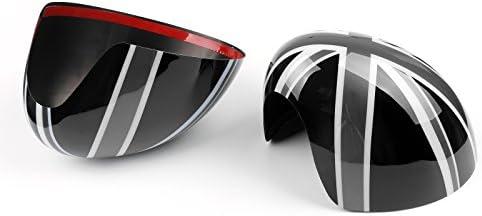 Bruce /& Shark 2 x couvertures de r/étroviseurs Union Jack Wing pour Mini Cooper R55 R56 R60 Power Fold Mirror
