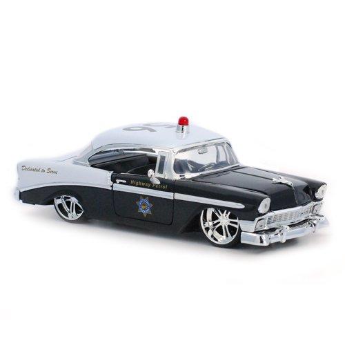 1956 Chevrolet Bel Air Diecast Police Model Car 1/24