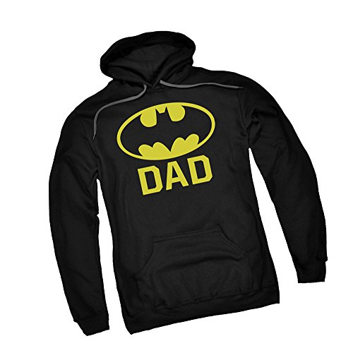 BatDad -- Batman Adult Hoodie Fleece Sweatshirt, Large -