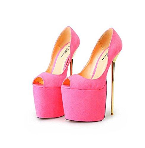 de Alto Alto Tamaño Morado Rosado Color 50 Zapatos 50 Tacón de de para Alto Bañador Zapatos de Rosa Tacón Metal Alto Mujer con Negro Tacón Tacón 22Cm 40 dq0dFR
