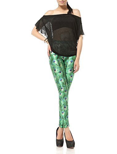 Women's Fashion Yoga Tights Printed Stretch Footless Leggings Costume Tight Pants Pretty (Peacock Costume Womens)