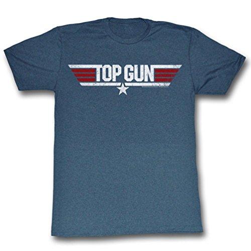 Top Gun Logo Adult Heather Navy T-Shirt (Adult X-Large)