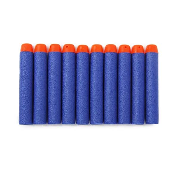 Inditradition Foam Toy Bullet Darts | Form Bullets for Nerf N-Strike Elite Guns, 100 Pieces (Blue)