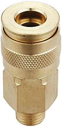 真鍮 工業用 カプラー コネクタ 1/4インチ NPT スレッド プラグ キット 全4タイプ - A