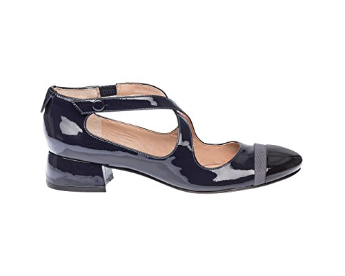 Tory Grey Blue Burch Model Cross Shoes Heel with Low Womens rcrW1Uq8v