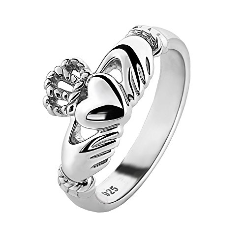 Unisex Sterling Silver ULS-6335 Claddagh Ring (7)