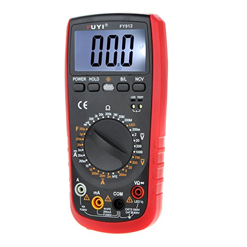 LCD Backlight DMM Digital Multimeters Capacitance Tester W