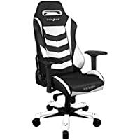 DXRacer Iron Series Racing Bucket Seat Office Gaming Chair (White & Black)