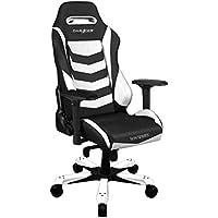 DXRacer Iron Series Racing Bucket Seat Office Gaming Chair (White & Black)