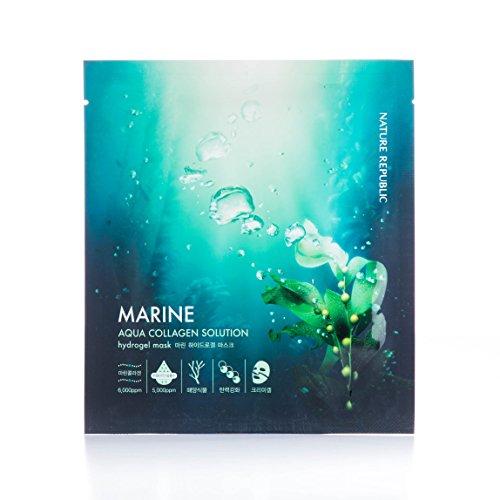 Nature Republic Aqua Collagen Solution Hydro Gel Mask, Marin