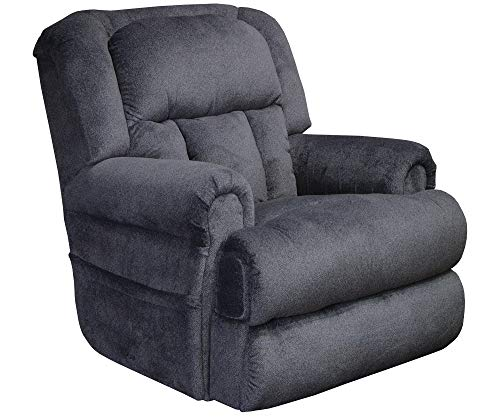 Catnapper Burns 4847 Power Dual Motor Infinate Position Full Lay Out Lift Chair Recliner 400 lb Capacity - Midnight Blue Fabric with in-Home Delivery and Setup